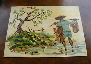 Vintage-Asian-Farmer-Paint-by-Number-Painting