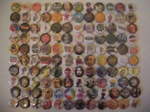 Vtg 80s 90s Mixed Lot 120 Rock Band Character 1 inch (2.5cm) Pin Button Badge #C