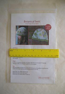Botanical Swirl Hat Pattern Pick Up Sticks Knit Felt