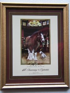 2002 Budweiser Clydesdale United Way Fair Share Anheuser Busch Print