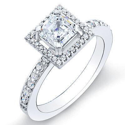 2.76ct Asscher Cut Diamond Engagement Ring GIA G/VS1