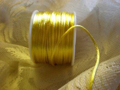 Yellow Rattail Rat Tail Cord Bridal Satin Ribbon 50y