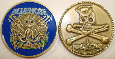 Bluenose Court Of Aurora Borealis Submarine Coin Usn