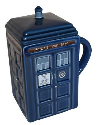 DOCTOR WHO TARDIS MUG with Removable Lid dr NEW IN BOX