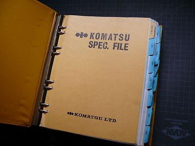 Komatsu Specifcations Service Manual Book Guide Tractor Dozer Crawler Repair