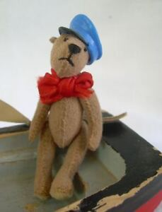 MINIATURE-ooak-artist-TEDDY-sailor-in-his-boat-ROOSEVELT-BEAR-CO-by-C-Peterson