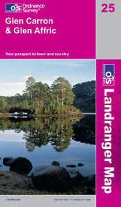 Glen Carron & Glen Affric Ordnance Survey Landranger Map 25
