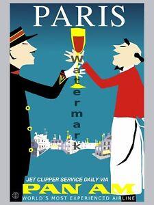 Vintage-Travel-Poster-Pan-Am-Paris-18-x24