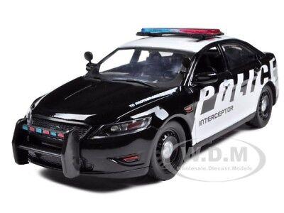 Ford Police Car Interceptor Concept Black/white 1:24 Model By Motormax 76920