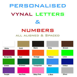 Vinyl letters numbers personalised shop logoshop sign for Window cling letters and numbers