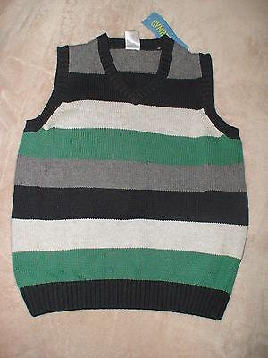Gymboree Snow Tracks Stripe Sweater Vest Christmas