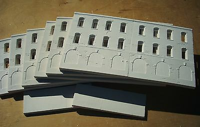 Downtown Deco Huge 6' Warehouse Flat S Sn3 Scale structure building hydrocal