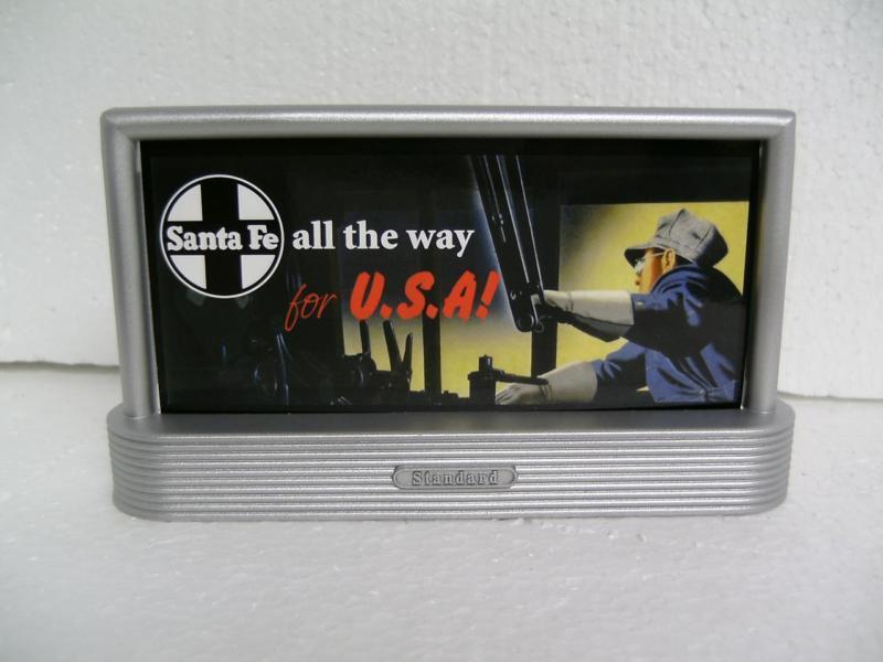 Lionel Santa Fe Fastrack Billboard Train All The Way West Track 6-30139 Bb (1)
