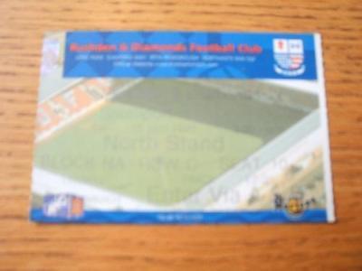 18/09/1999 Ticket: Rushden And Diamonds v Southport  .