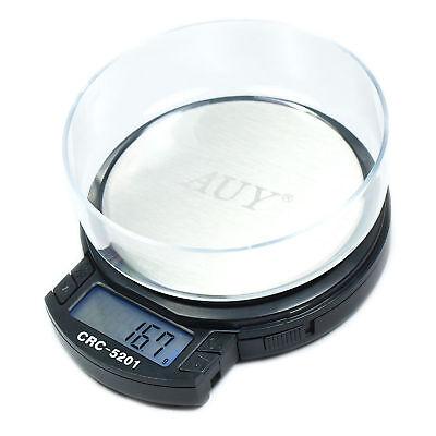 AUY Digital Scale 0.01g x 200g 0.1g x 500g Dual Capacity  - Pocket Jewelry Scale