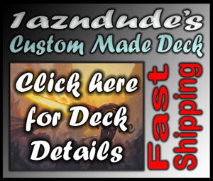 Magic-MTG-Custom-Made-Black-Blue-Zombie-Deck-w12-Rares
