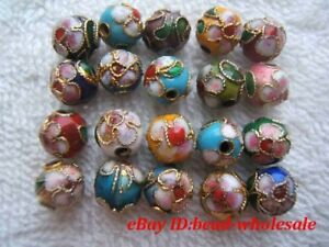 Free ship 110pcs mixed cloisonne round spacer beads 6mm DIY