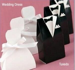 100pcs-TUXEDO-DRESS-Groom-bridal-Wedding-Favours-Boxes-Candy-box-Gift-Ribbon