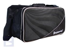 Brunswick Swirl Two Ball Tote Tenpin Bowling Bag -Black