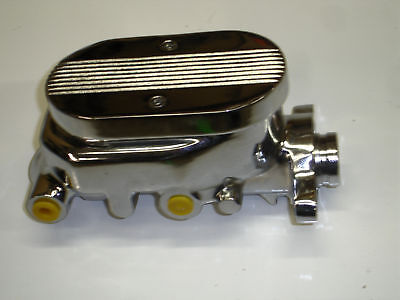 GM STYLE CHROME/ALUM BALL MILLED MASTER CYLINDER  1 1/8 bore