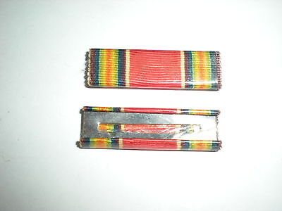 US WWII WORLD WAR II VICTORY MEDAL RIBBON - PLASTIC COVERED