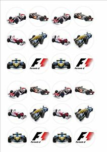 Formula 1  Rice Paper Fairy Cake Bun Toppers