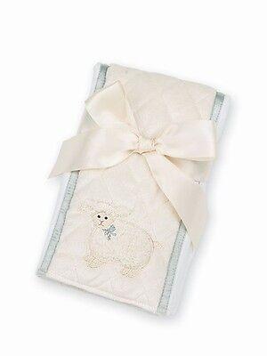 New Bearington Baby LAMBY LAMB Burp Cloth Cream White gift Unisex Boy Girl soft