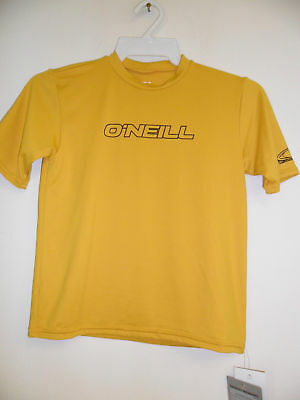 Oneill Youth Basic Rash Tee Mustard Yellow Size 10