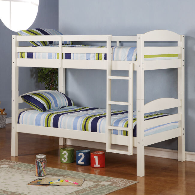Twin Wood Bunk Beds 650 x 650