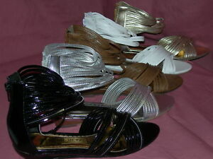 Ladies-girls-Dress-Dancing-Gladiator-sandals-Low-wedge-fine-multistrap-tp101