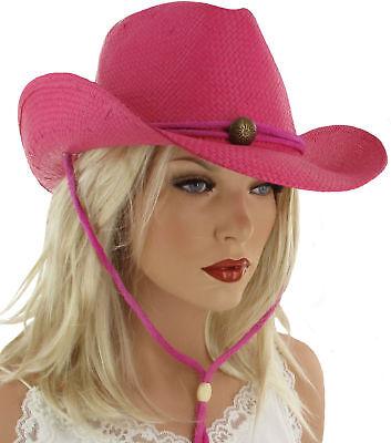 AL Cowgirlhut Cowboyhut Sommerhut Hut HOT STYLE 56-58 cm (Cowgirl Hut Pink)