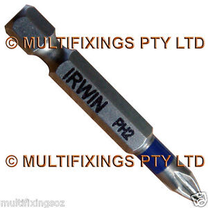 10pcs x 49mm IRWIN Torsion Phillips PH2 Head Driver Bit Last 3X Longer