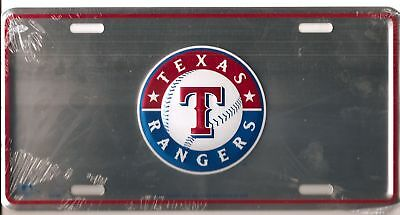 Mlb Texas Rangers Logo Metal Car Tag License Plate