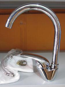 Miscelatore rubinetto per lavello lavabo da cucina canna collo alto p cromo - Rubinetto per lavello cucina ...