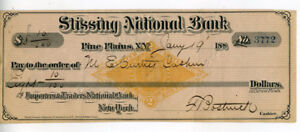 1877-Revenue-Stamped-Paper-Check-Pine-Plains-NY