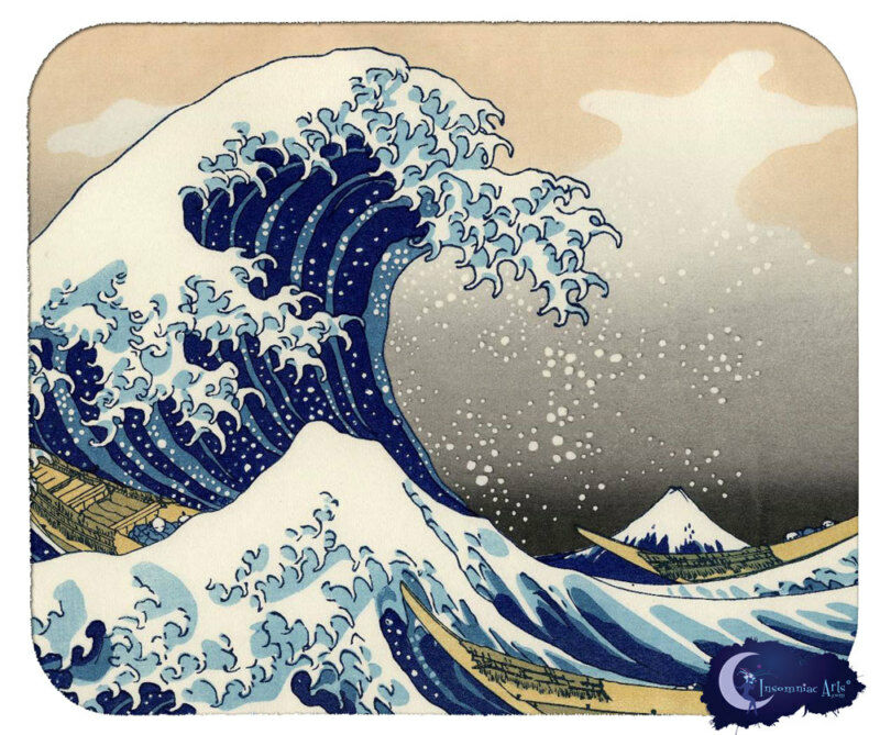Great Wave by Katsushika Hokusa - Asian Art Mouse Pad, Mousepad