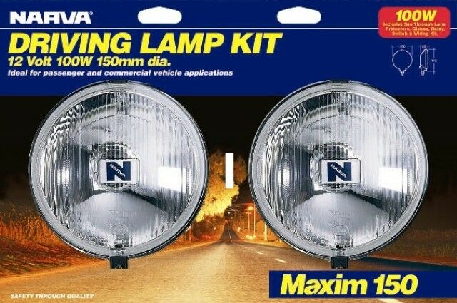 NARVA MAXIM150 DRIVING LIGHTS TO SUIT HOLDEN RODEO COLORADO JACKAROO