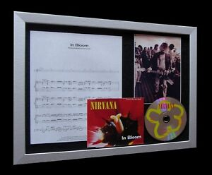 NIRVANA In Bloom LIMITED Nod CD MUSIC FRAMED DISPLAY!!