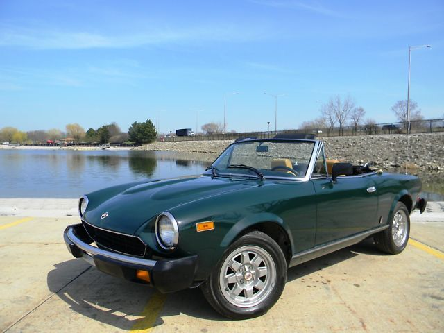 81 Fiat Spider 44K mi full resto mint rare low reserve