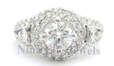 1.35CT ROUND ART DECO ANTIQUE DIAMOND ENGAGEMENT RING