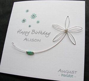 Handmade-Birthstone-Peridot-AUGUST-Birthday-Card-Mum