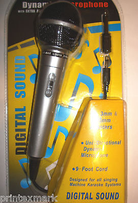 MICROPHONE WITH 9 FT CORD UNI-DIRECTIONAL DYNAMIC NEW