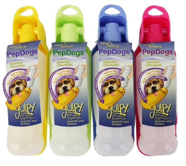 Portable Pet Travel Water Bowl Bottle Dispenser Feeder Cat: Gulpy Portable Pet Dog Travel Water Drink Bottle Dispenser