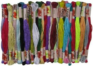 50pcs Art Silk/Rayon Stranded Embroidery Thread Skeins *Cross Stitch*