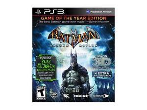 PLAYSTATION 3 BATMAN ARKHAM ASYLUM NEW GAME OF THE YEAR EDITION