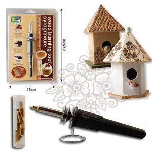 Wood Burning soldering tool set pyrography kit 5 tips