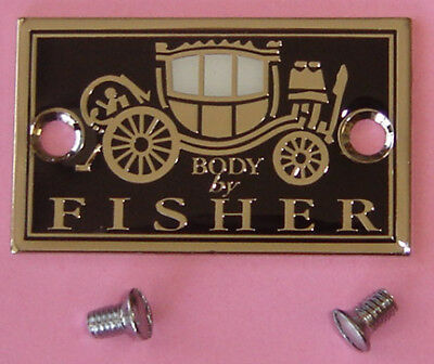 Buick Fisher Body Plate & Special Screws 1924 Thru 1931 Tag & Our Parts List