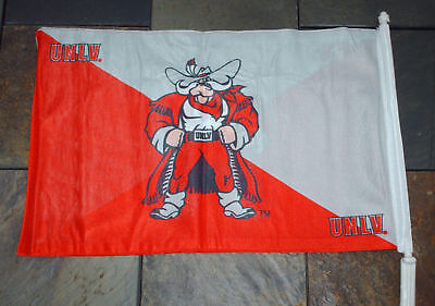 Unlv College Runnin Rebels Ase Car Flag / Antenna