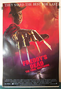 FREDDYS-DEAD-Poster-27x40-FREDDY-KRUEGER-Nightmare-on-Elm-Street-Horror-Film