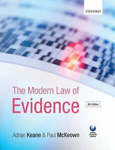 THE MODERN LAW OF EVIDENCE., Keane, Adrian & Pal McKeown., Used; Very Good Book